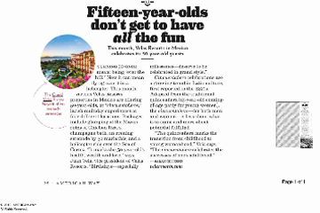 Fifteen-year-olds don´t get to have all the fun