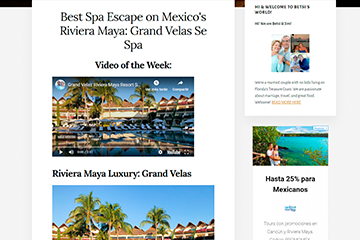 Best Spa Escape on Mexico's Riviera Maya: Grand Velas Se Spa