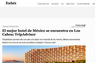 El mejor hotel de México se encuentra en Los Cabos: TripAdvisor