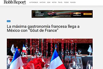 La máxima gastronomía francesa llega a México con