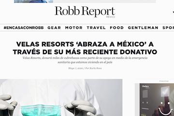 Robb report donativo mascarillas