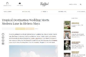 Tropical Destination Wedding Meets Modern Luxe in Riviera Maya