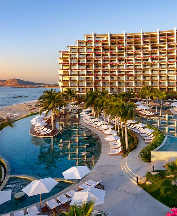 Un lujoso resort en las playas de Los Cabos